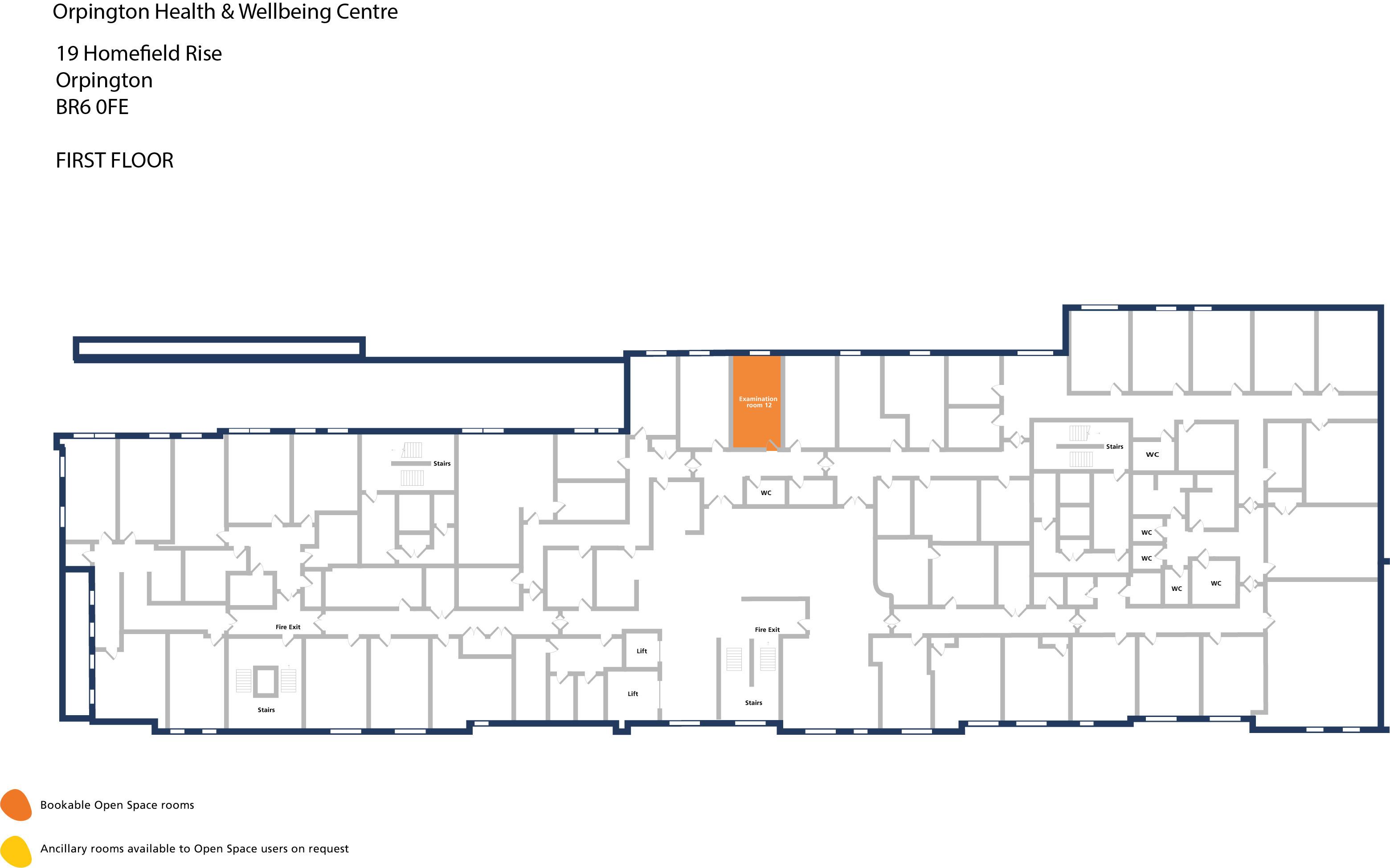 Orpington hwbc   first floor   examination room 12