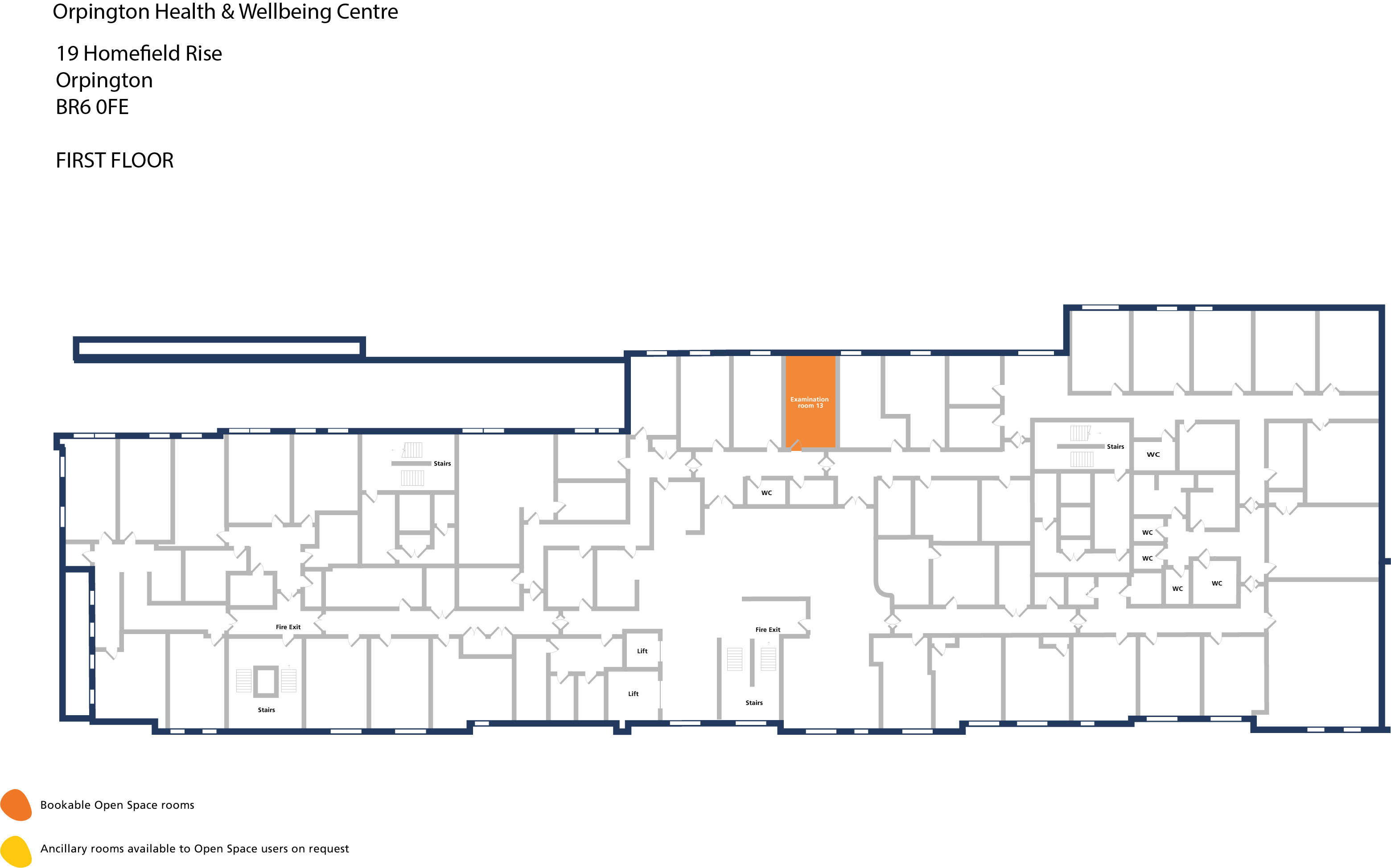 Orpington hwbc   first floor   examination room 13