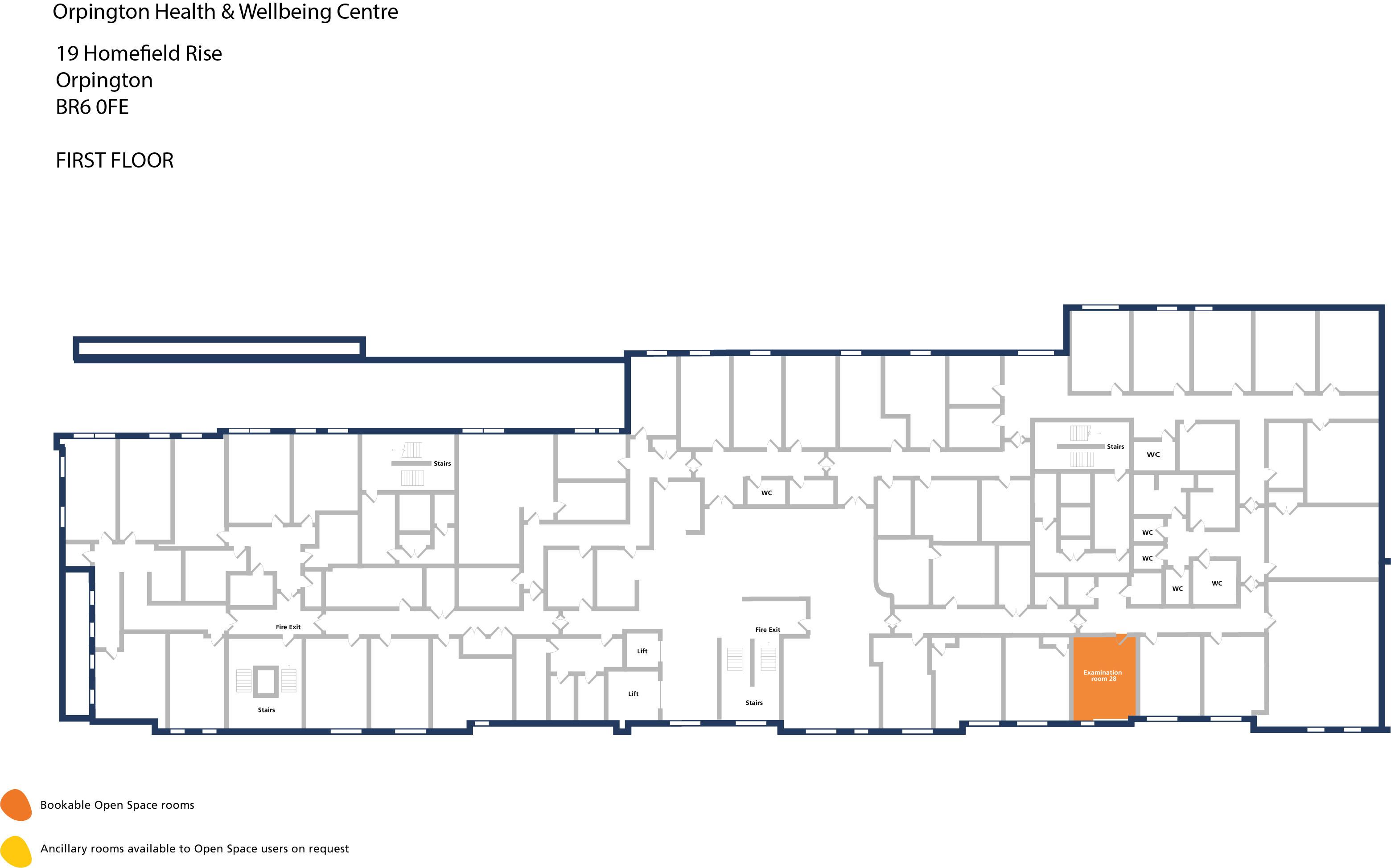 Orpington hwbc   first floor   examination room 28