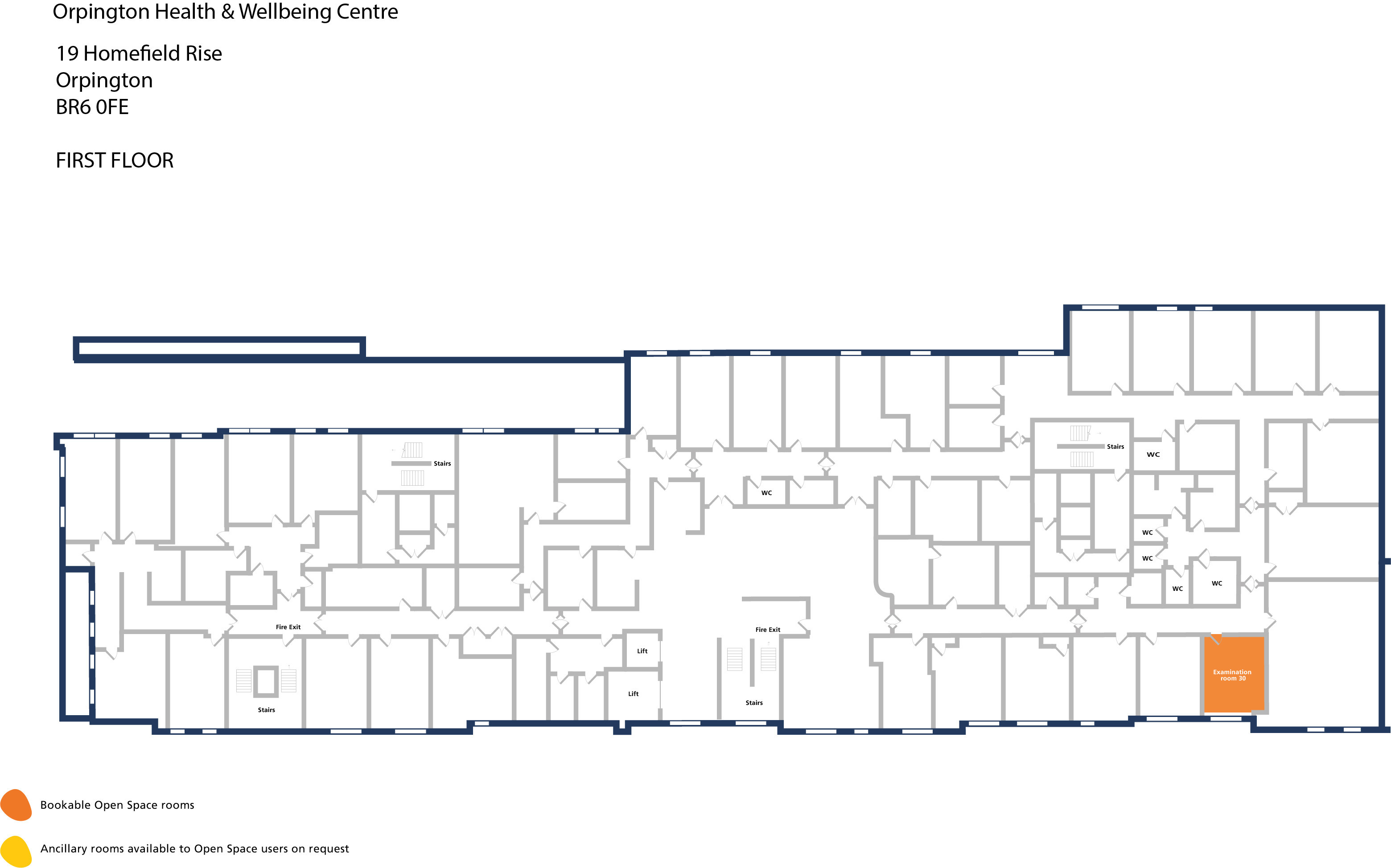 Orpington hwbc   first floor   examination room 30
