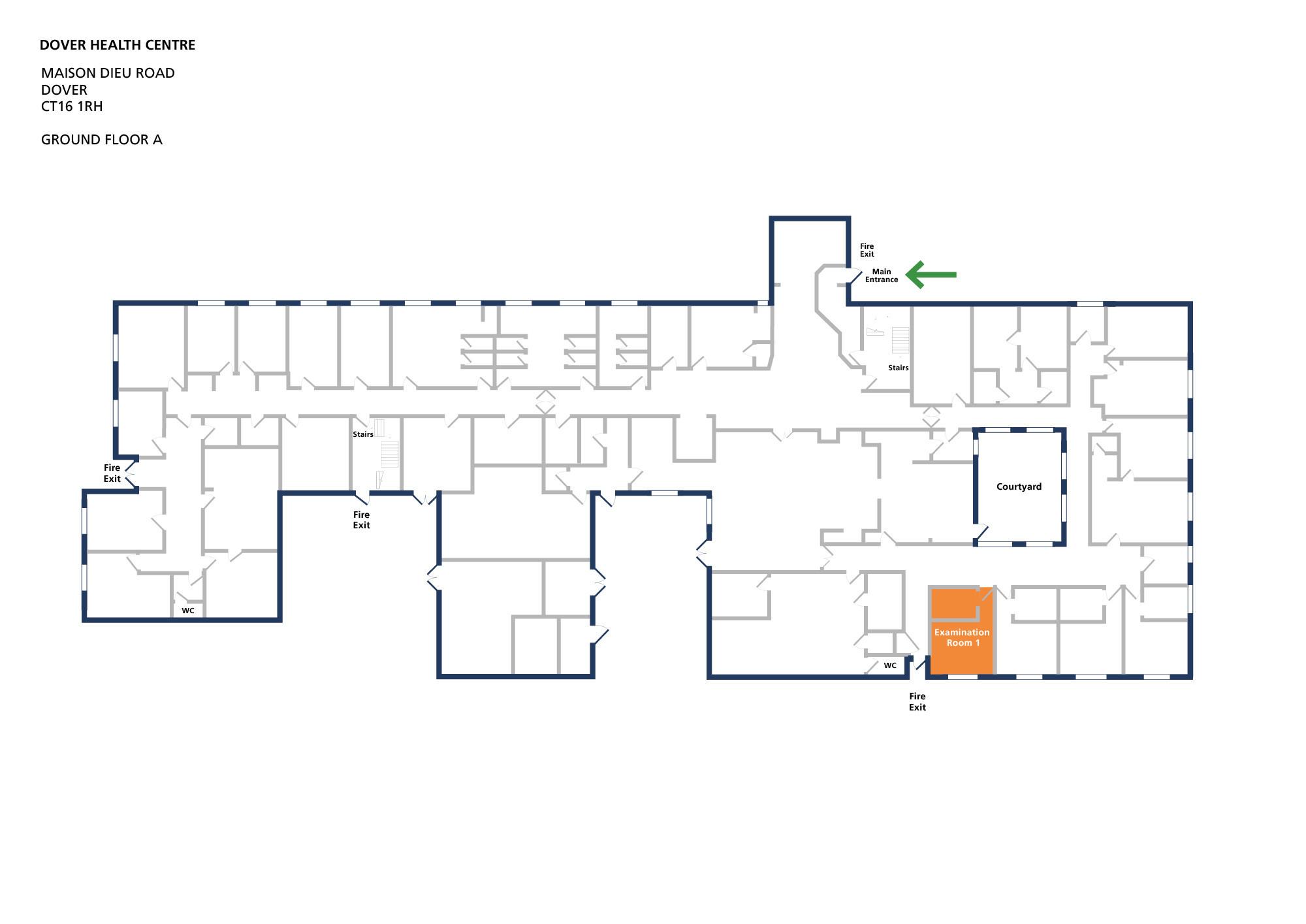 Dover health centre room examination room 1 v1