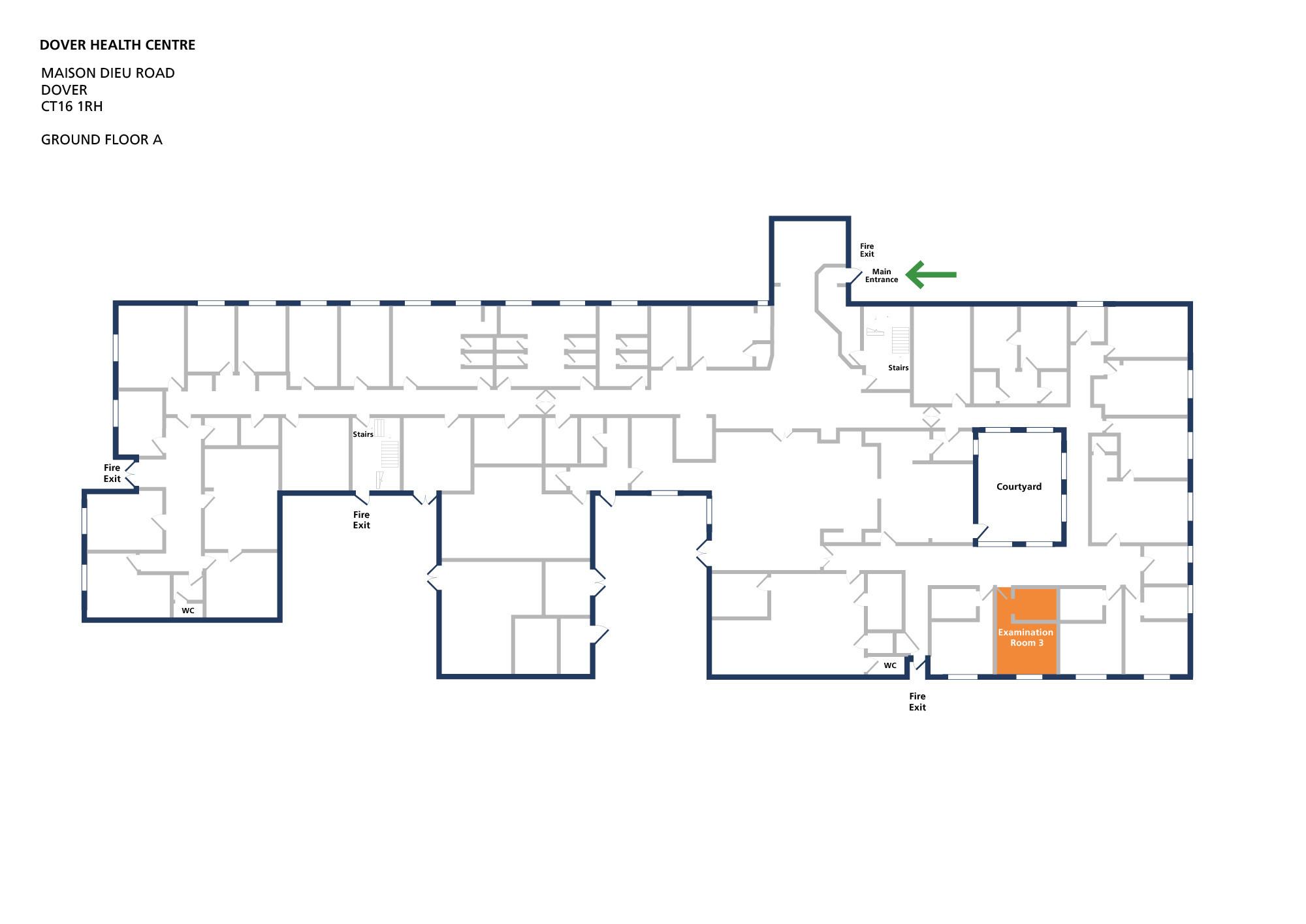 Dover health centre room examination room 3 v1