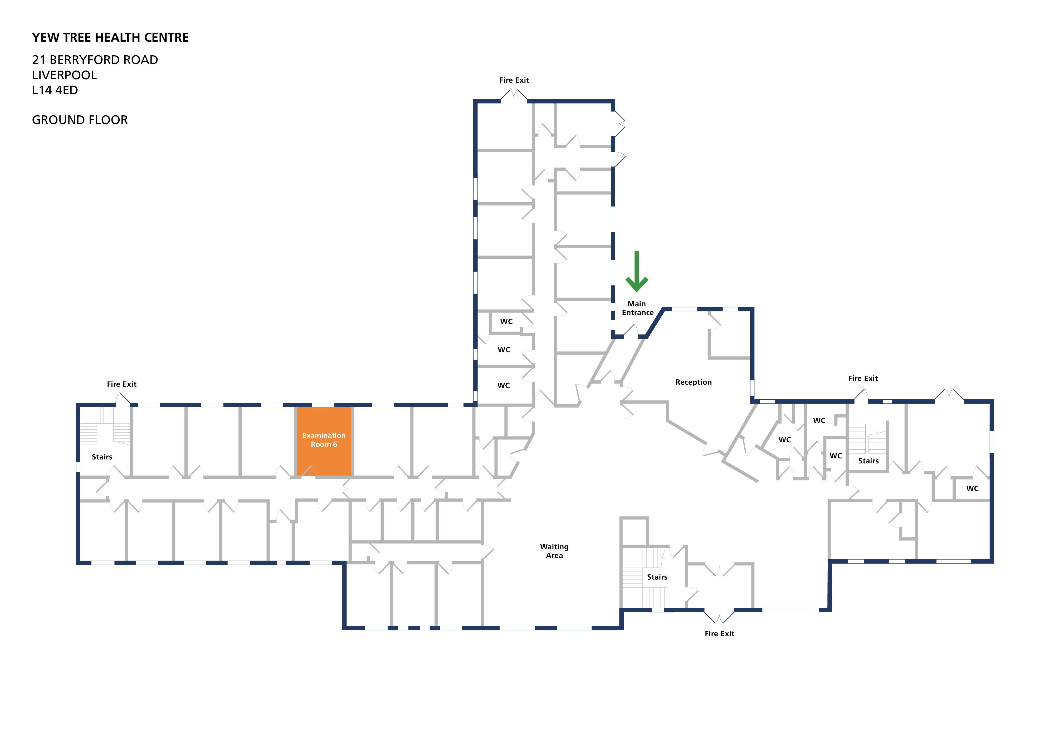 Yew tree health centre room examination room 6 v1