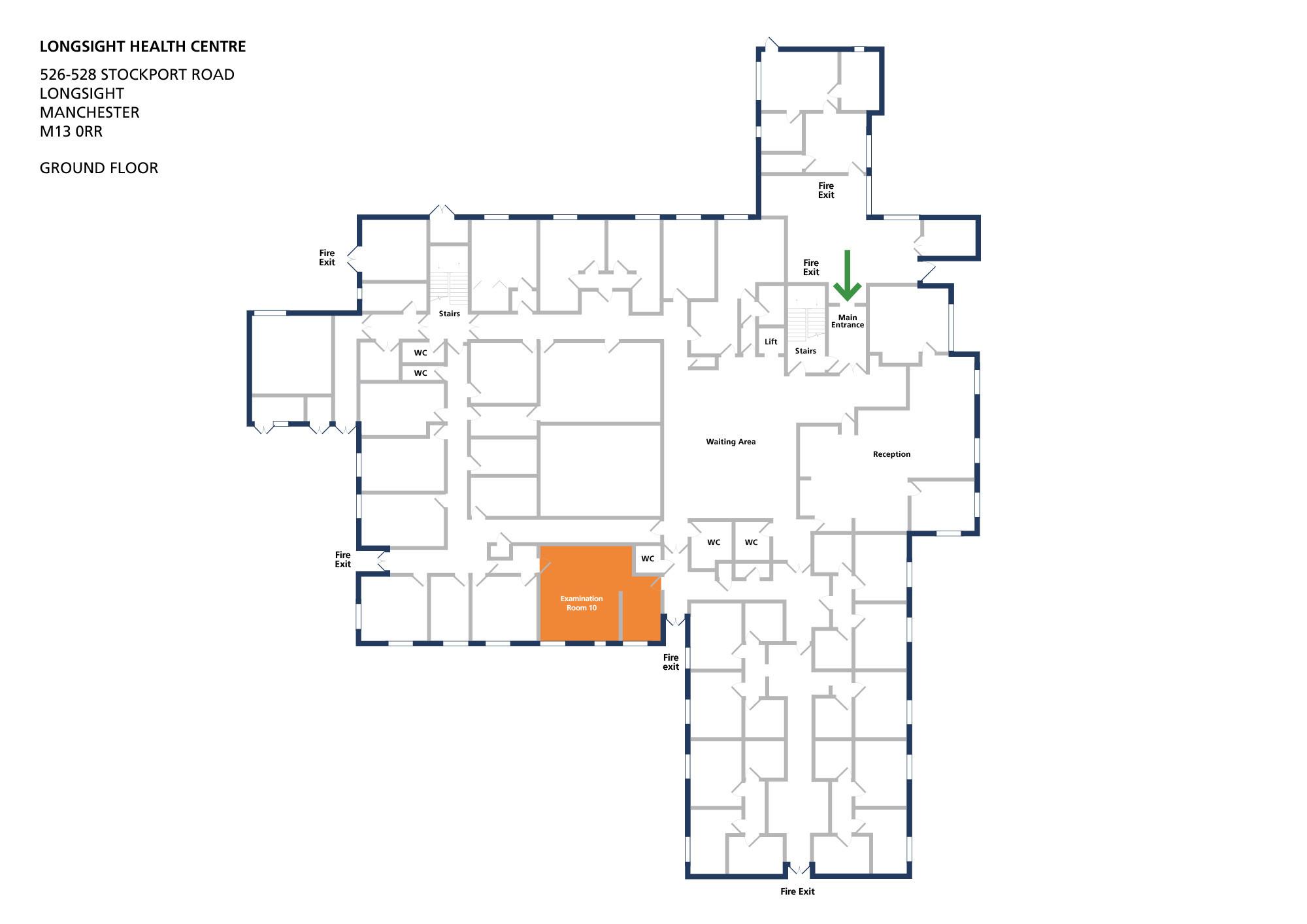 Longsight health centre room examination room 10 v1