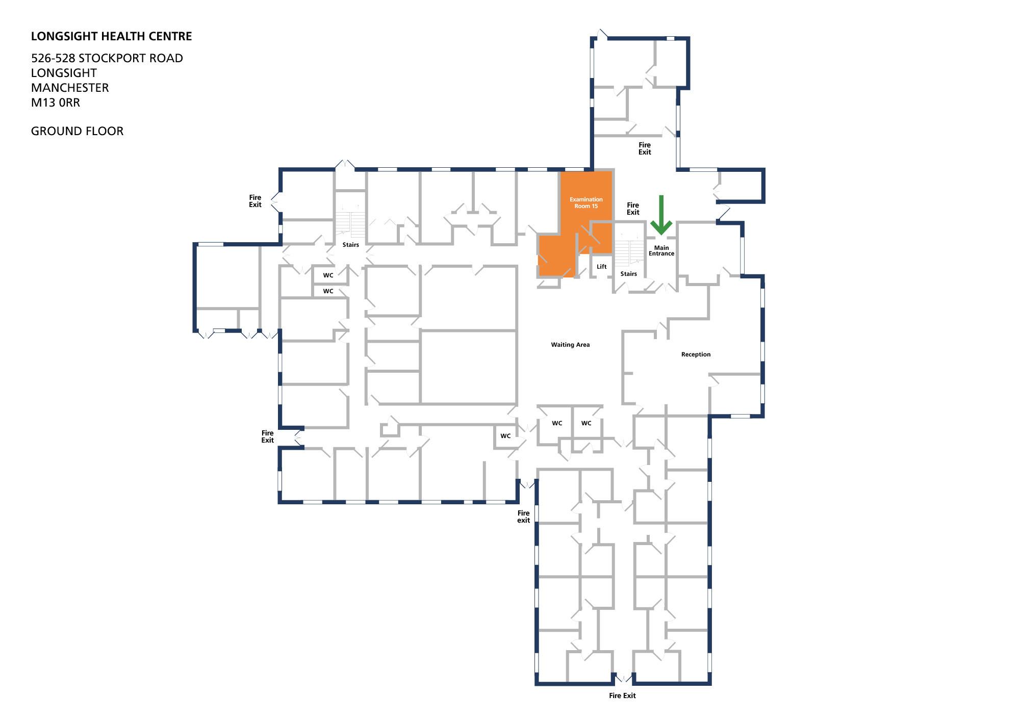 Longsight health centre room examination room 15 v1