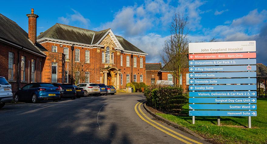 John coupland hospital exterior 002