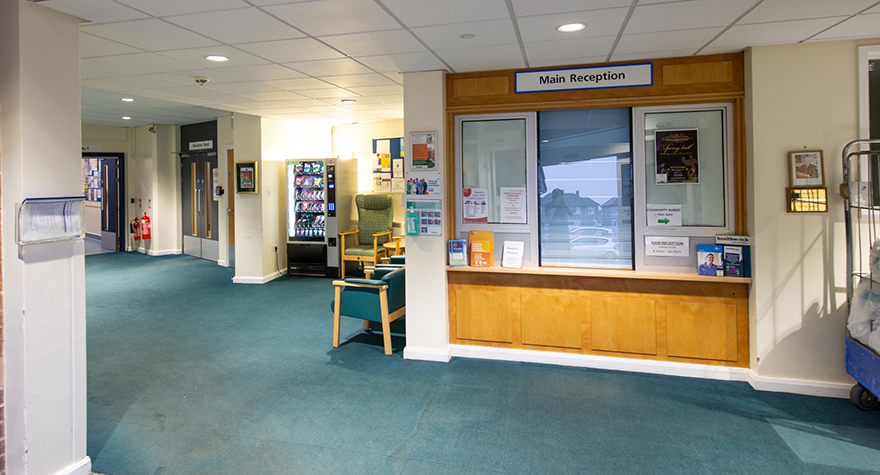 Skegness hospital reception 001