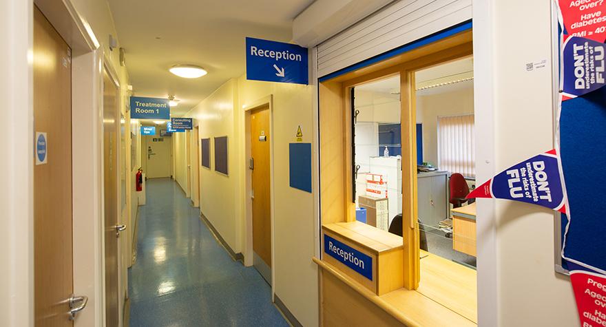 Audley health centre reception 001