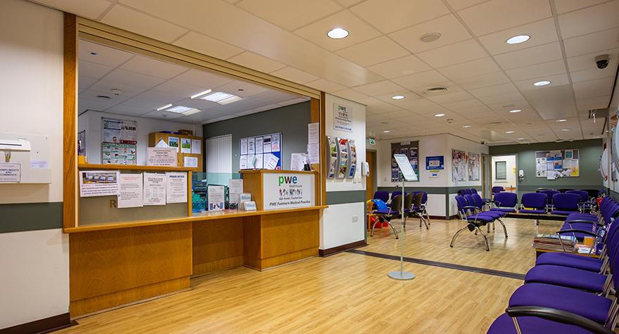 Padiham health centre  reception 001