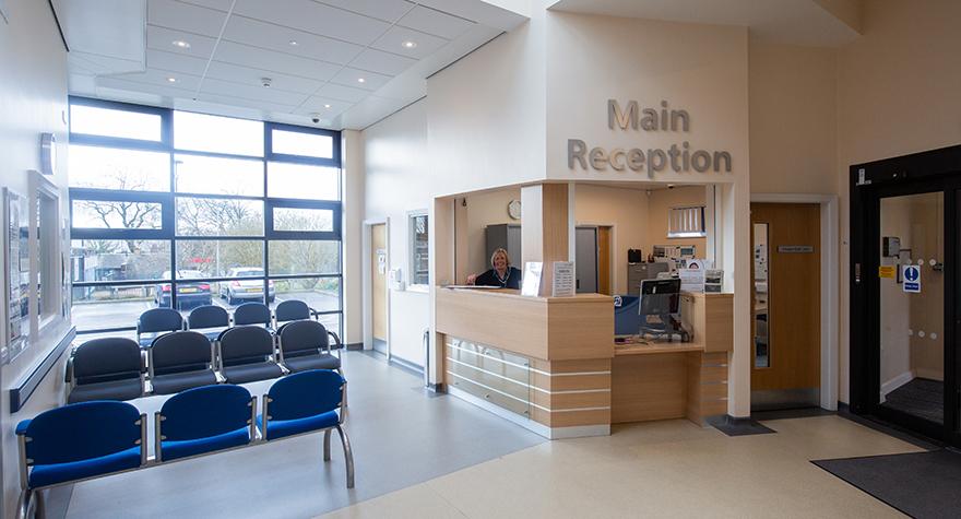Haslingden health centre  reception 001