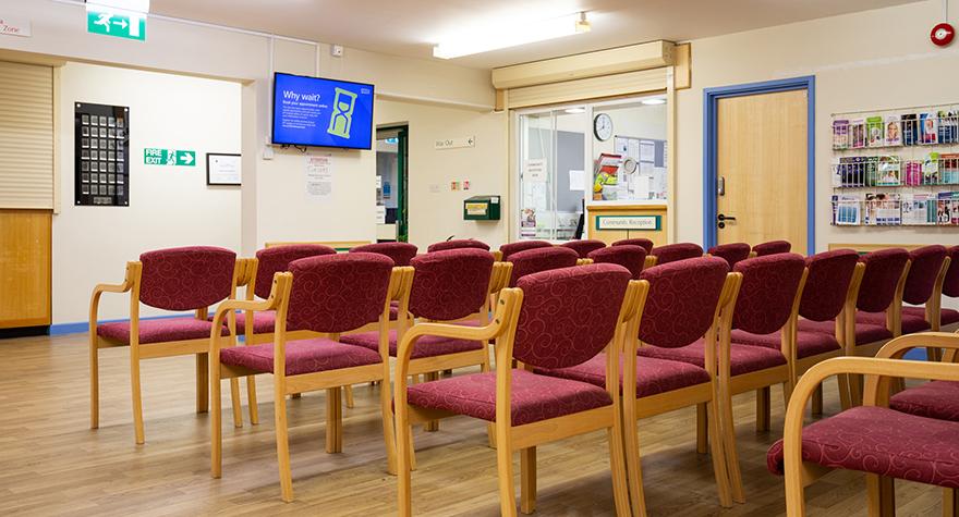 Eastney health centre reception 001