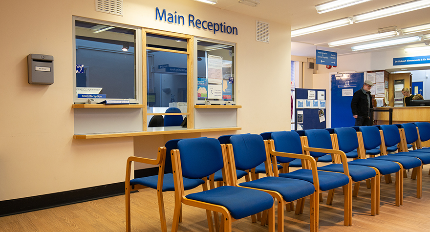 Canterbury health centre reception 001