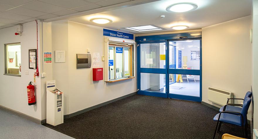 Dover health centre reception 001