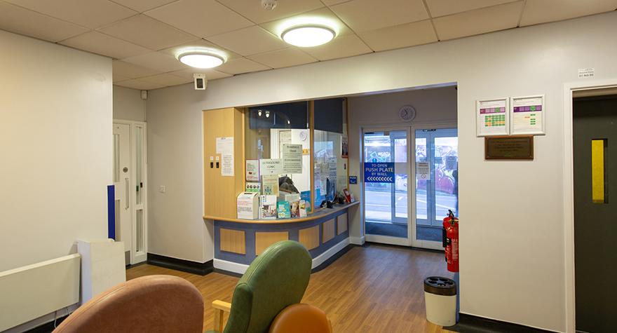 Folkestone health centre reception 001