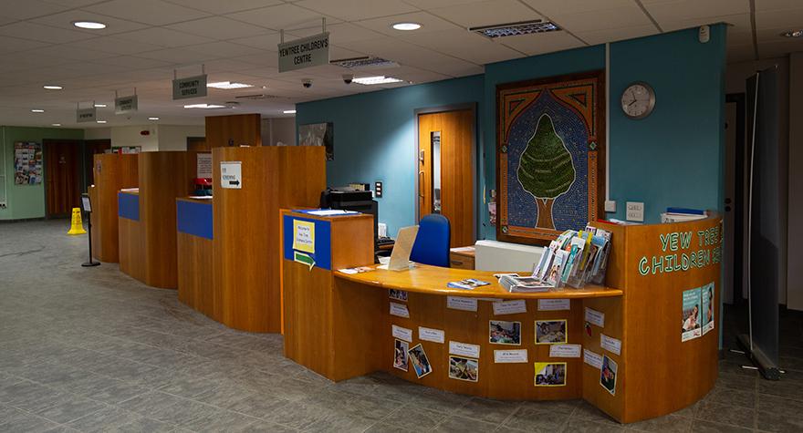 Yew tree centre reception 001