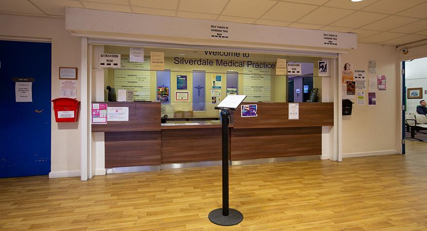 Pendlebury health centre reception 001