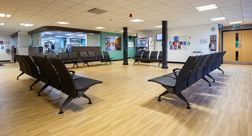 Longsight health centre reception 001