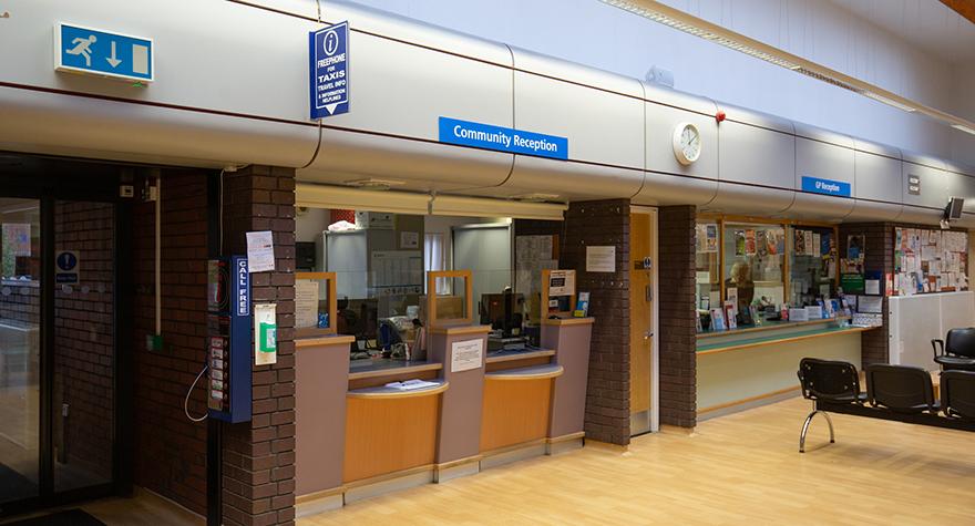 Harpurhey health centre reception 001