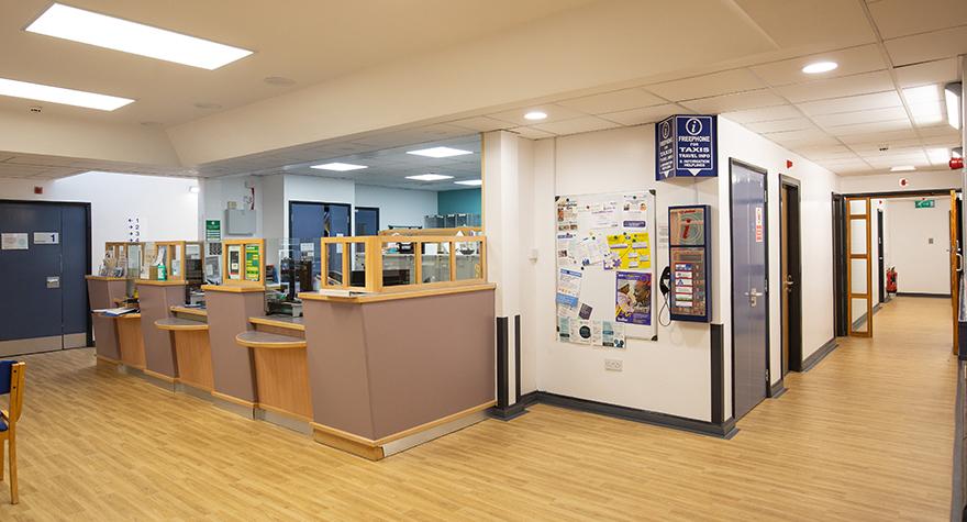 Burnage health centre reception 001